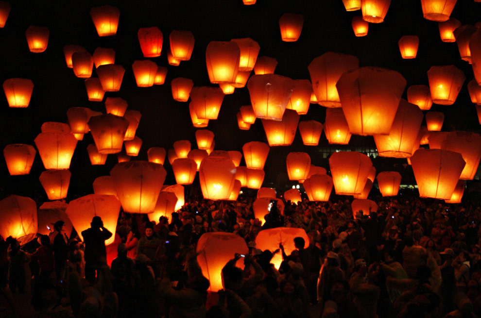 Best New Year Lantern Launches in Wales